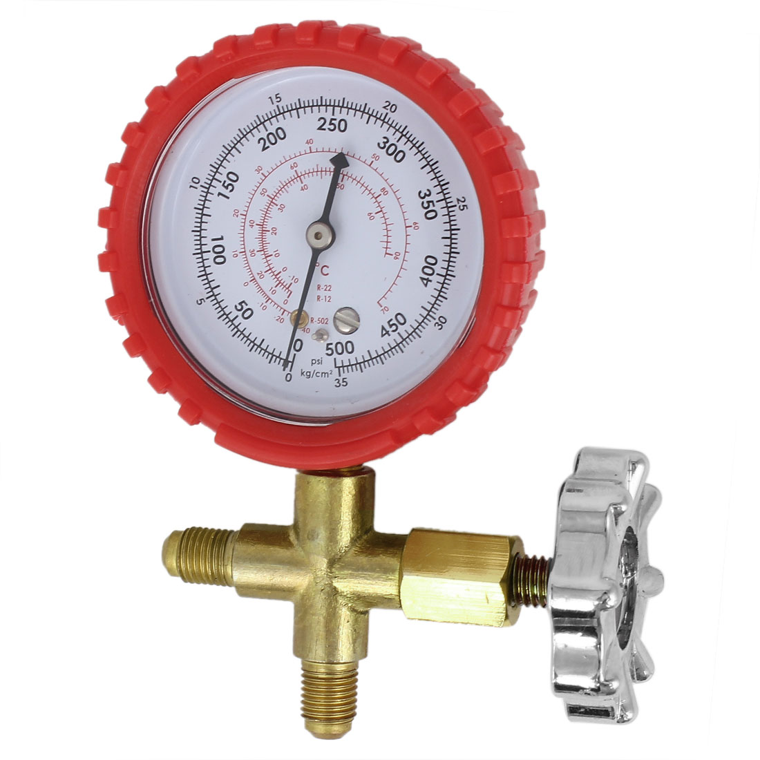 11mm Male Threaded 2 Way Valve Single Manifold Gauge 500psi Replacement