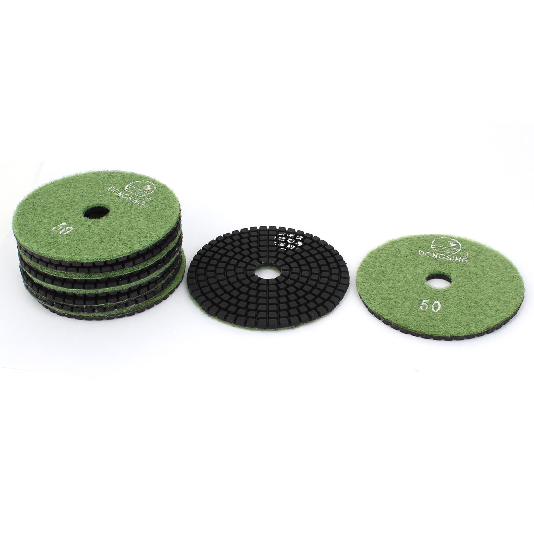 "10pcs 50 Grit 4"" Dia Wet Diamond Polishing Pads Green for Granite Marble"