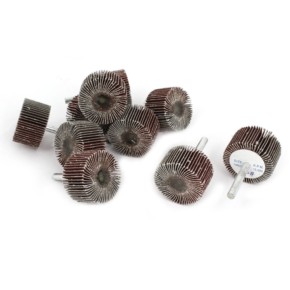 10 Pieces 120 Grit 40x25x6mm Cylindrical Abrasives Grinding Flap Wheel Discs