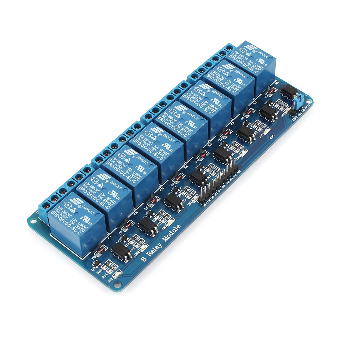 5V 8 Channel Relay Board Module Optocoupler Shielded PIC AVR ARM PLC