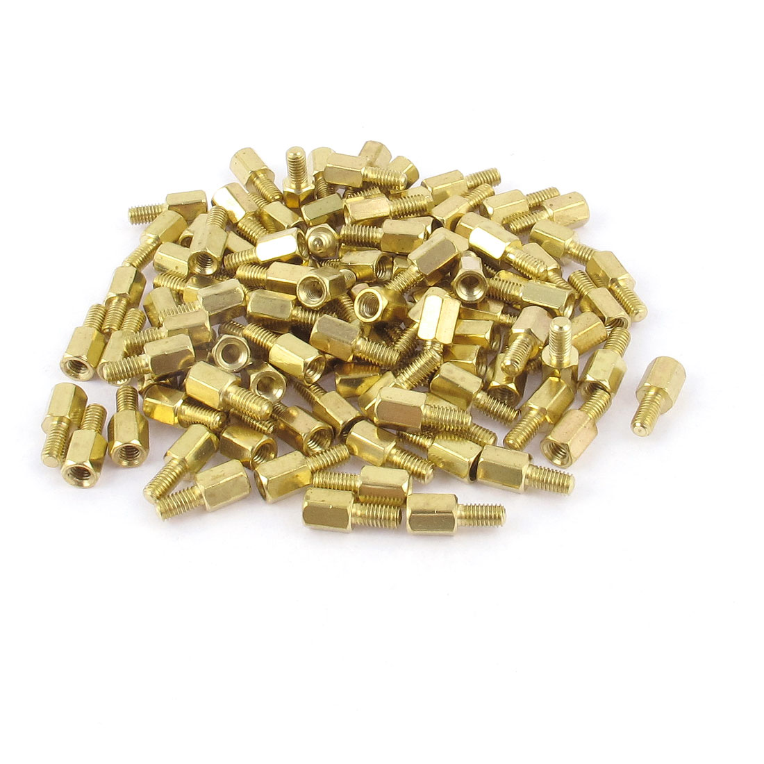 100Pcs M3 Male Female Brass PCB Spacer Hex Stand-Off Screw Pillar