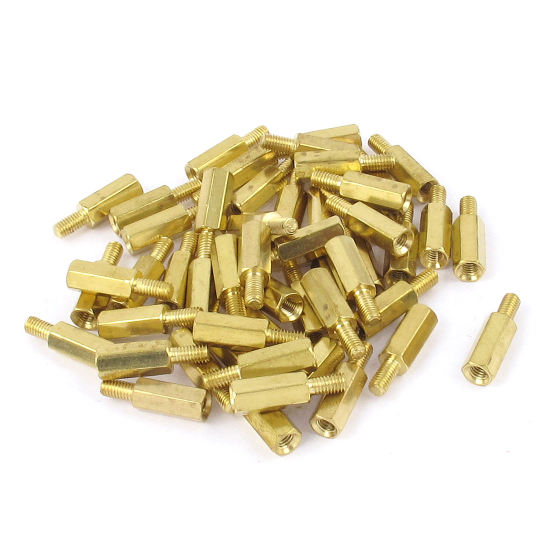 50pcs M3 Female 11mm to Male 6mm Hexagonal Nut Brass Standoff Spacer PCB Motherboard Pillar M3x11+6mm