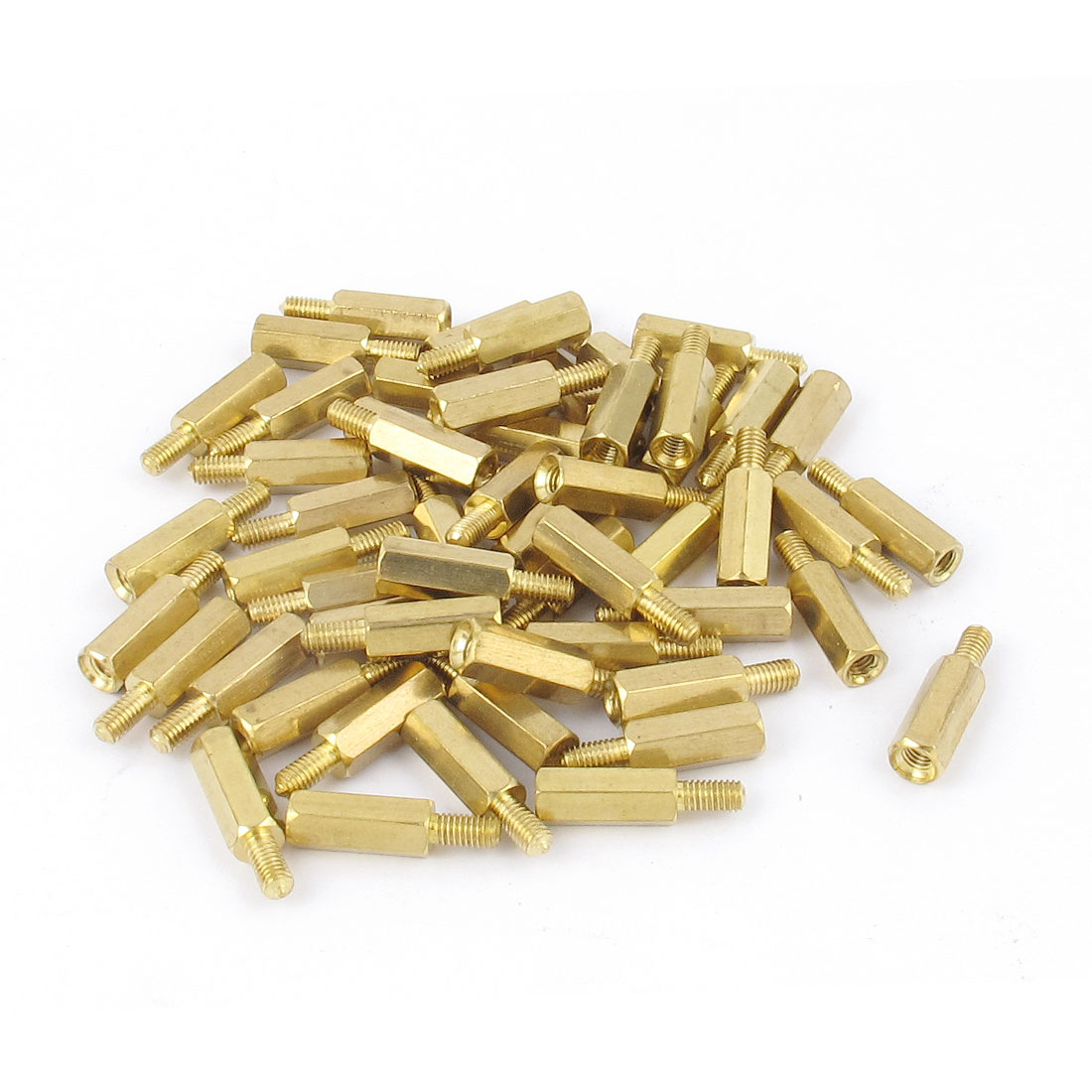 50Pcs M3 Male/Female Brass Hex Stand-Off PCB Spacer Pillar Screw 12mm