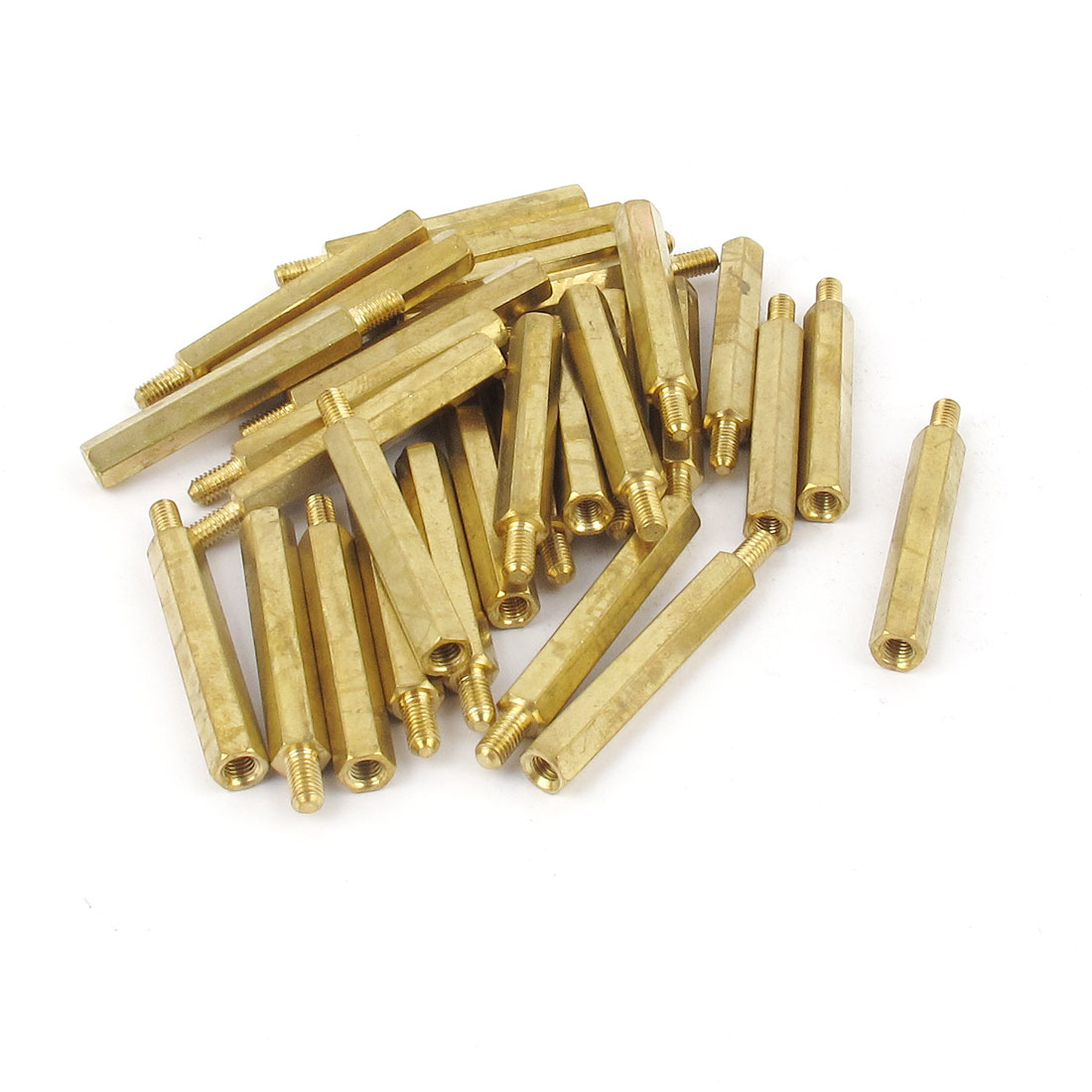 30Pcs M3 3mm Male Female Brass PCB Spacer Hex Stand-Off Screw Pillar 30mm