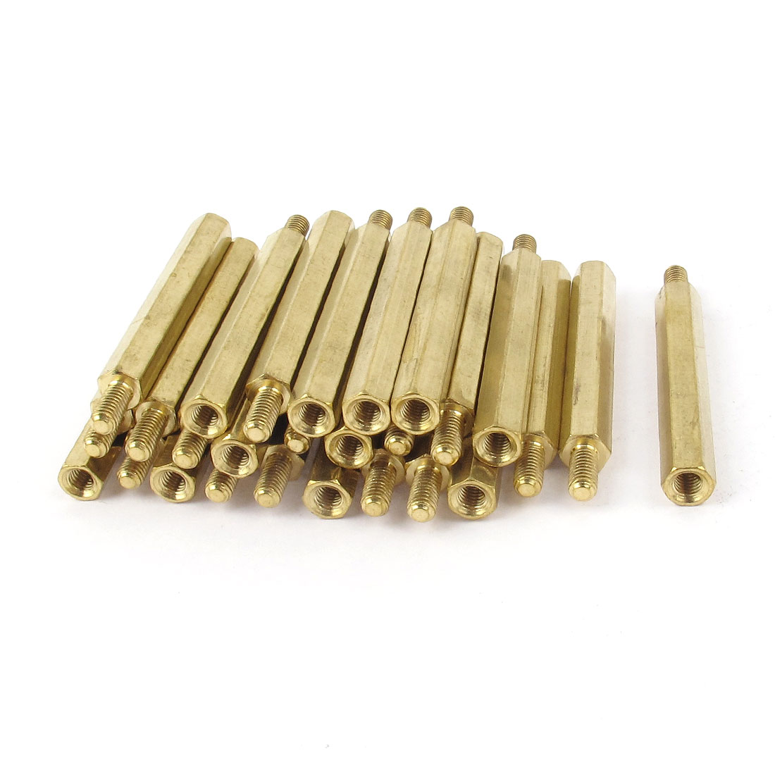 30PCS M3 Male 6mm + Female 35mm Hex Nut Brass Standoff Spacer PCB Motherboard Pillar Support M3x35+6mm