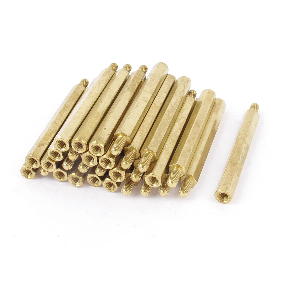 30 Pcs M3 Male-Female Brass PCB Spacer Hex Stand-Off Pillar 40mm