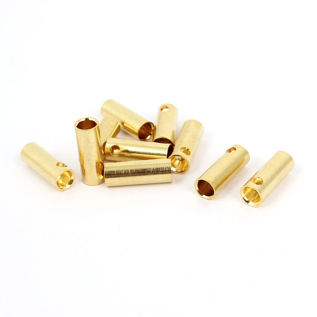 10 Pcs Gold Tone 5mm Male Banana Connector for RC Motor ESC Battery