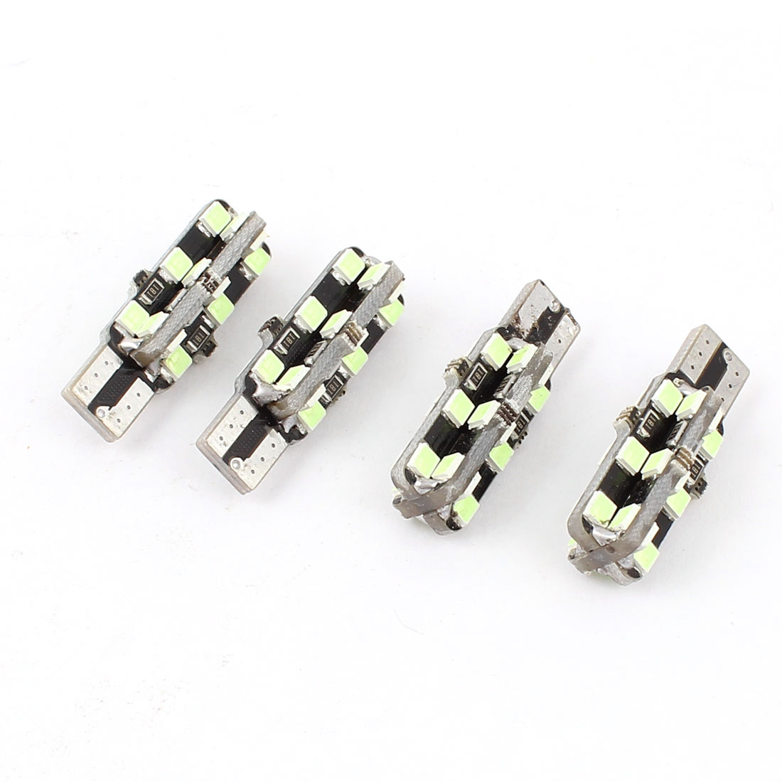 4 Pcs T10 W5W 2652 3528 24-SMD LED Dashboard Light Signal Bulbs Ice Blue 12V Internal
