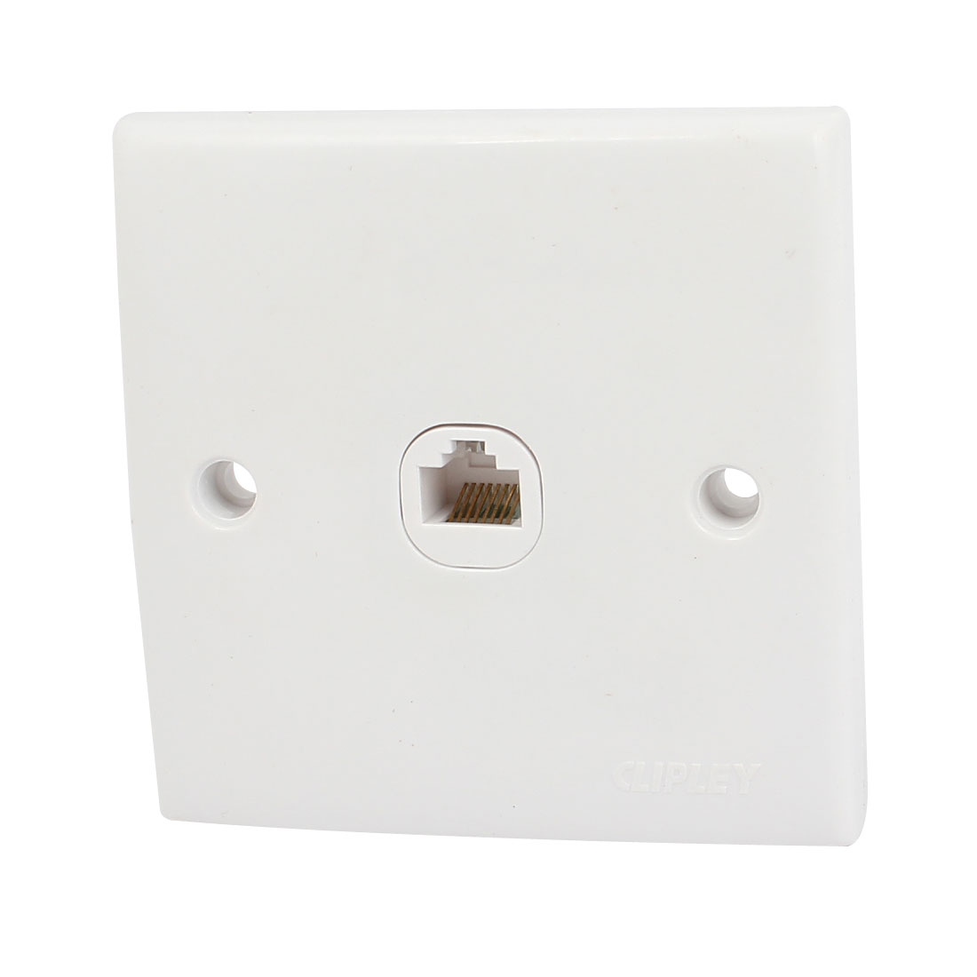 RJ45 8P8C 1 Port Cat5 CAT5e Ethernet Wall Plate Outlet Panel Cover White AC 250V 10A