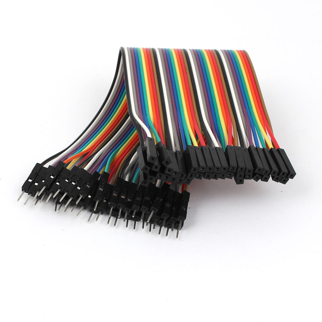 20cm 40pin Male to Female 2.54mm 1P-1P Jumper Wire Flat Cable