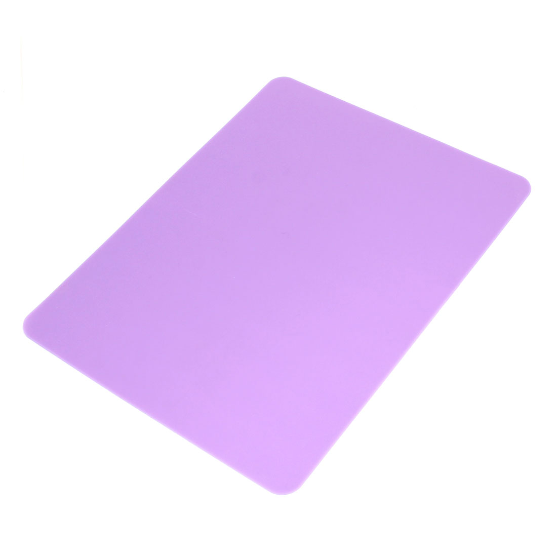 21.5cm x 17cm Light Purple Nonslip Silicone Desktop Computer Mouse Pad Mat