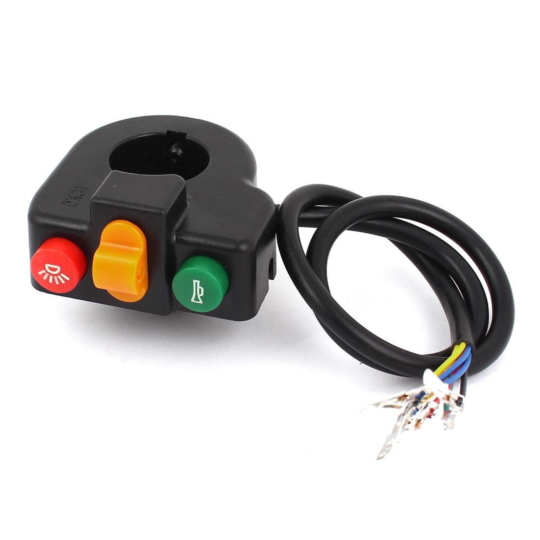 "Light Turn Signal Horn Switch Electric 0.8"" Handlebars Dia for Bike Scooter Dirt Bike"