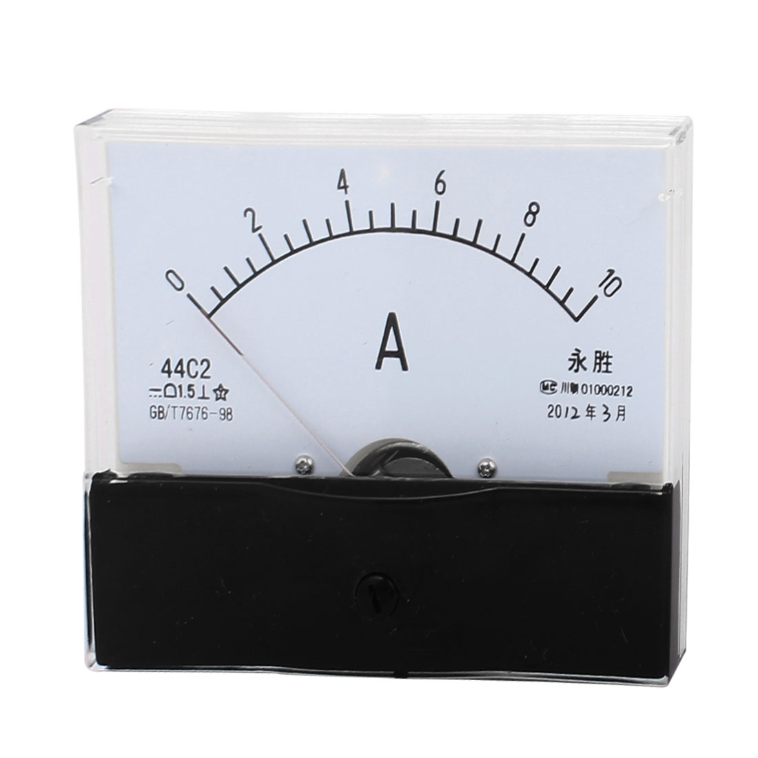 44C2 0-10A Class 1.5 Accuracy Square Shaped Vertical Mounted Analog Ammeter Ampere Meter