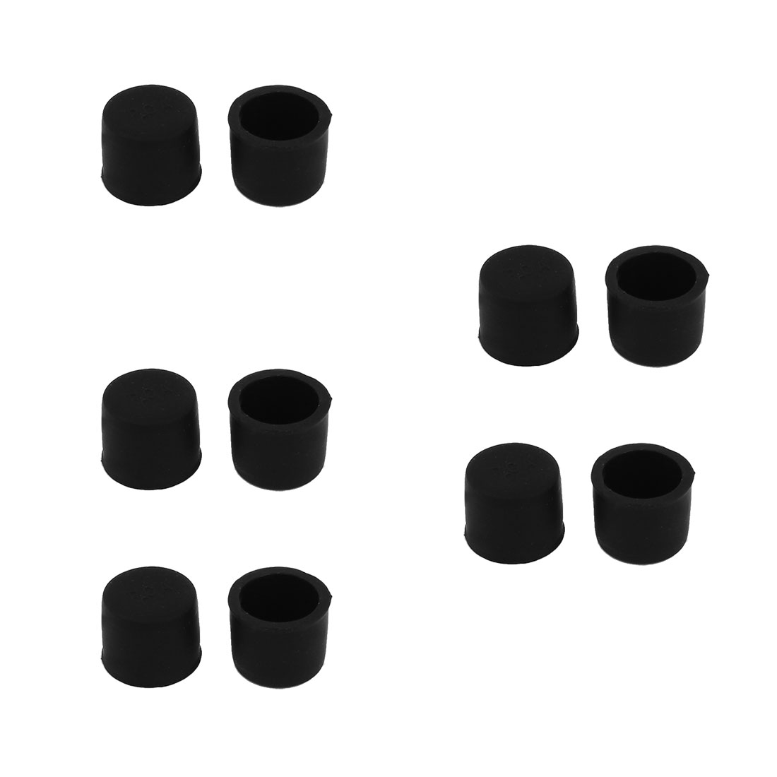 Silicone RCA Female Connector Dust Proof Cap Protector Cover Black 10 Pcs