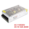 200W DC 5V 40A LED Strip Light Regulated Switching Power Supply Converter S-200-5