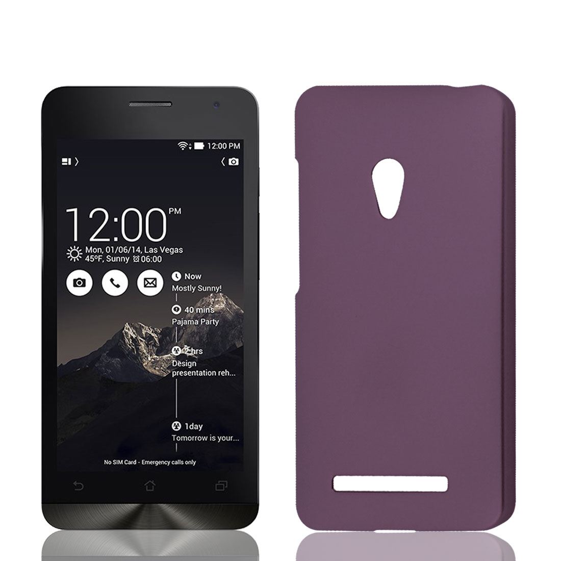 Burgundy Protective Phone Hard Bumper Back Case Cover for Asus Zenfone 5