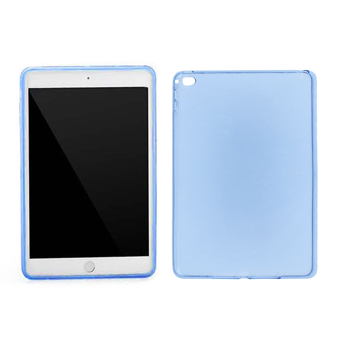 Clear Blue Soft TPU Protector Case Cover for Apple iPad Air 2 iPad 6