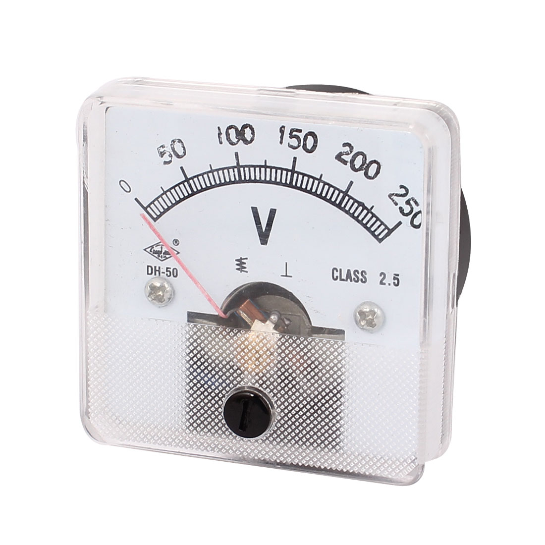 DH-50 AC 0-250V 2.5 Class Square Plastic Panel Gauge Analog Voltmeter Voltage Meter