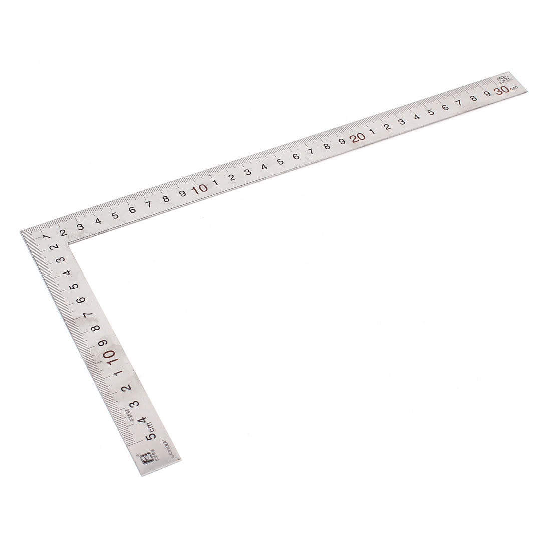 0-300mm Stainless Steel L Shaped Angle Square Ruler Measuring Tool