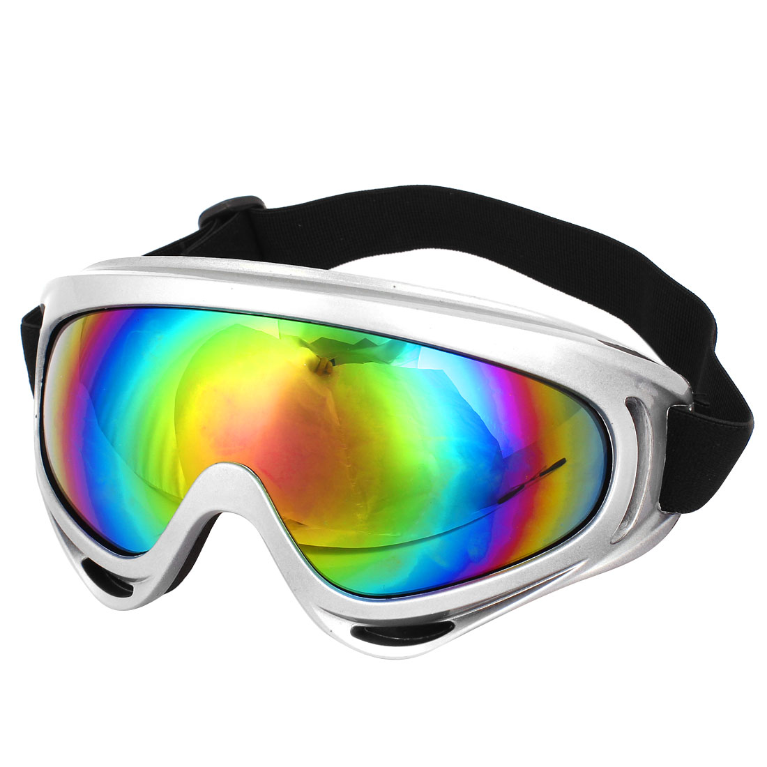 Unisex Colorful Lens Full Rim Skate Snowboard Sports Cycle Goggles Eyewear