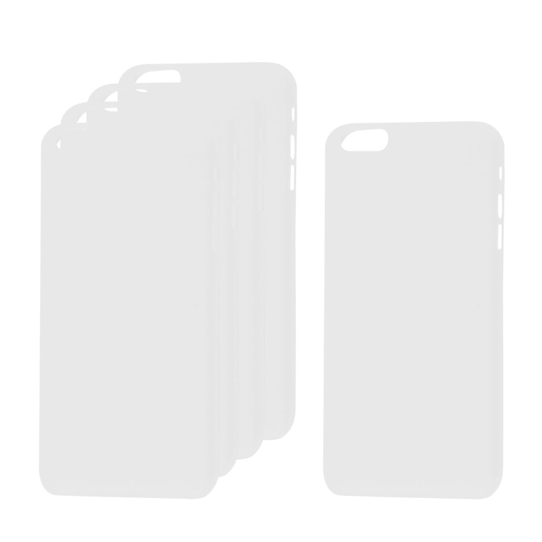 5Pcs Clear Slim Frosted Protective Shell Case Cover for Apple iPhone 6 4.7""