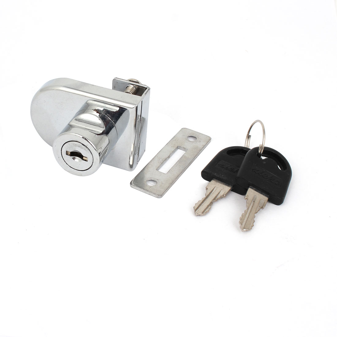 Cupboard Cabinet Showcase 10mm Thickness Single Glass Door Lock Silver Tone