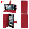 """Red PU Leather Card Slot Flip Stand Phone Case Cover for iPhone 6 6G 4.7"""""""