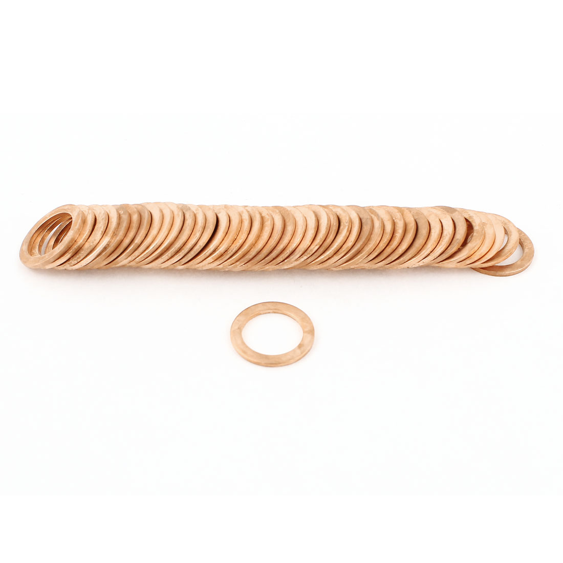 50pcs 14mm Inner Dia Copper Flat Washer Ring Line Seal Fasteners