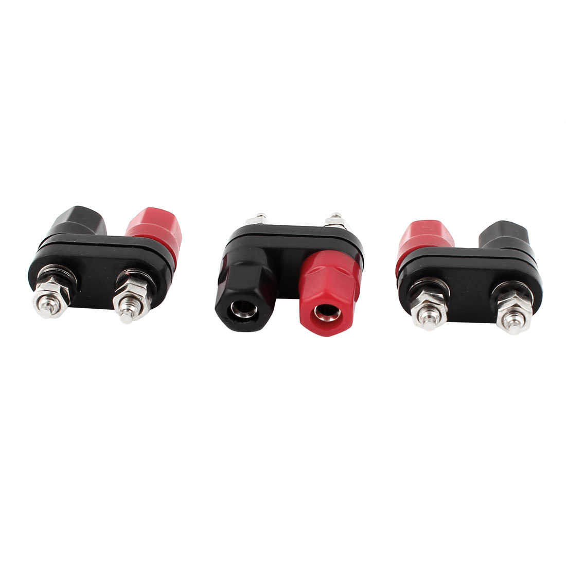Speaker Amplifier Terminal Binding Post Dual 2-way Banana Adapter Jack 3pcs