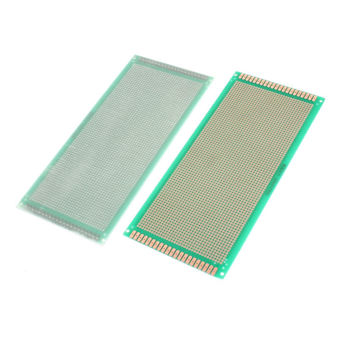 2 Pcs Single Side Circuit Prototype Universal PCB Board Breadboard Green 22x10cm