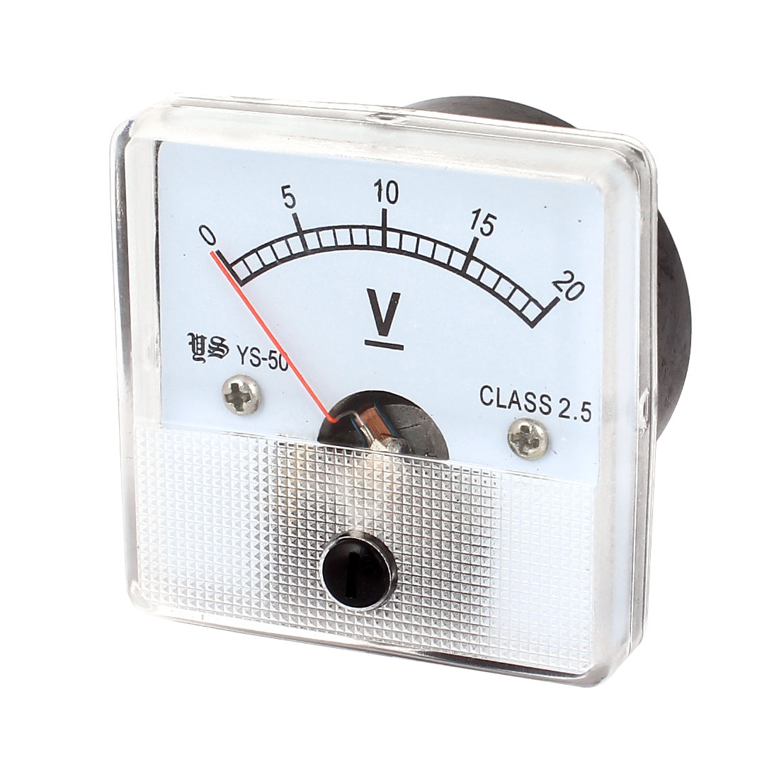 DC 0-20V Class 2.5 Accuracy Rectangle Analog Panel Volt Meter Voltmeter Gauge