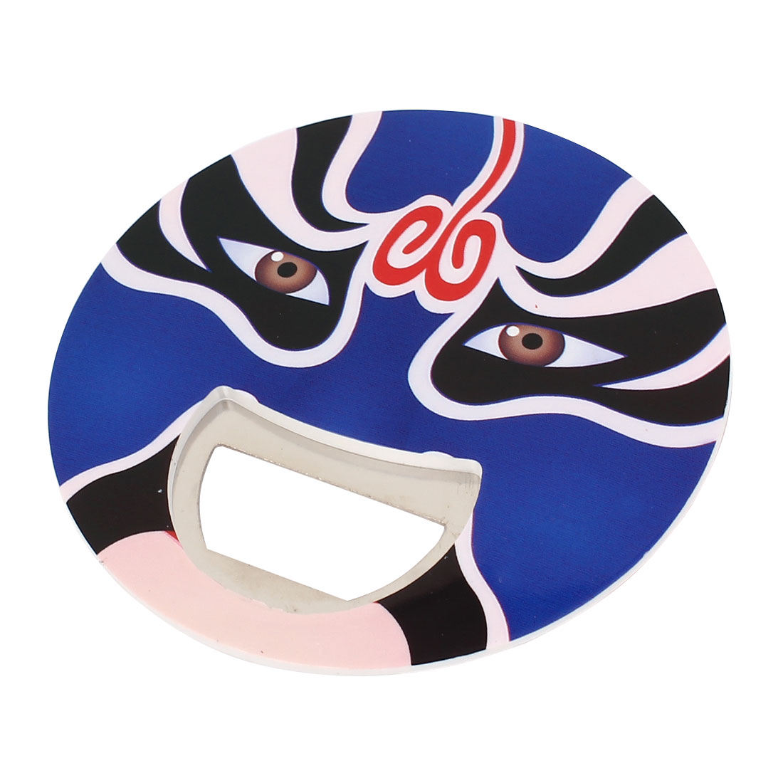 Two Faces Peking Opera Facial Masks Print Round Beer Milk Bottle Opener