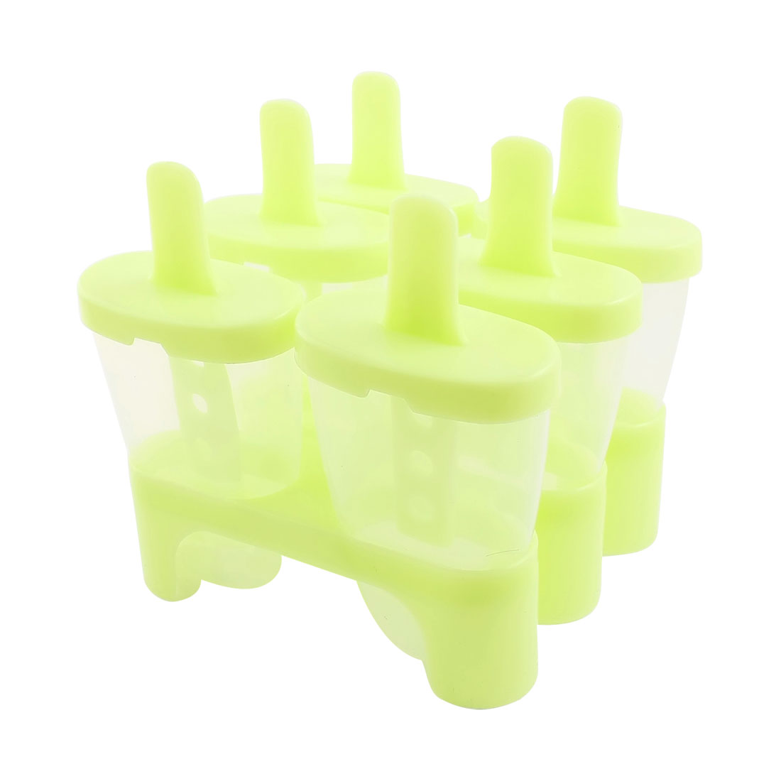 Yellow 6 Compartments Plastic DIY Candy Bar Maker Ice Cube Mold Mould