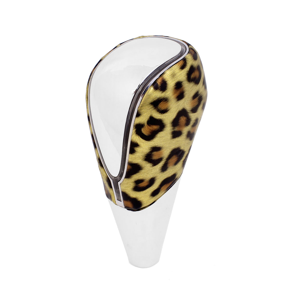 Gold Tone Leopard Print LED Gear Shift Knob Multicolor Light 11cm Height