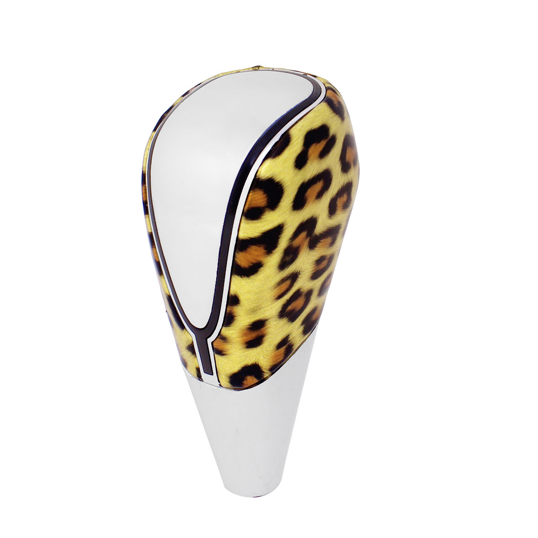 Gold Tone Leopard Pattern USB Power RGB Multi-color LED Universal Shift Knob