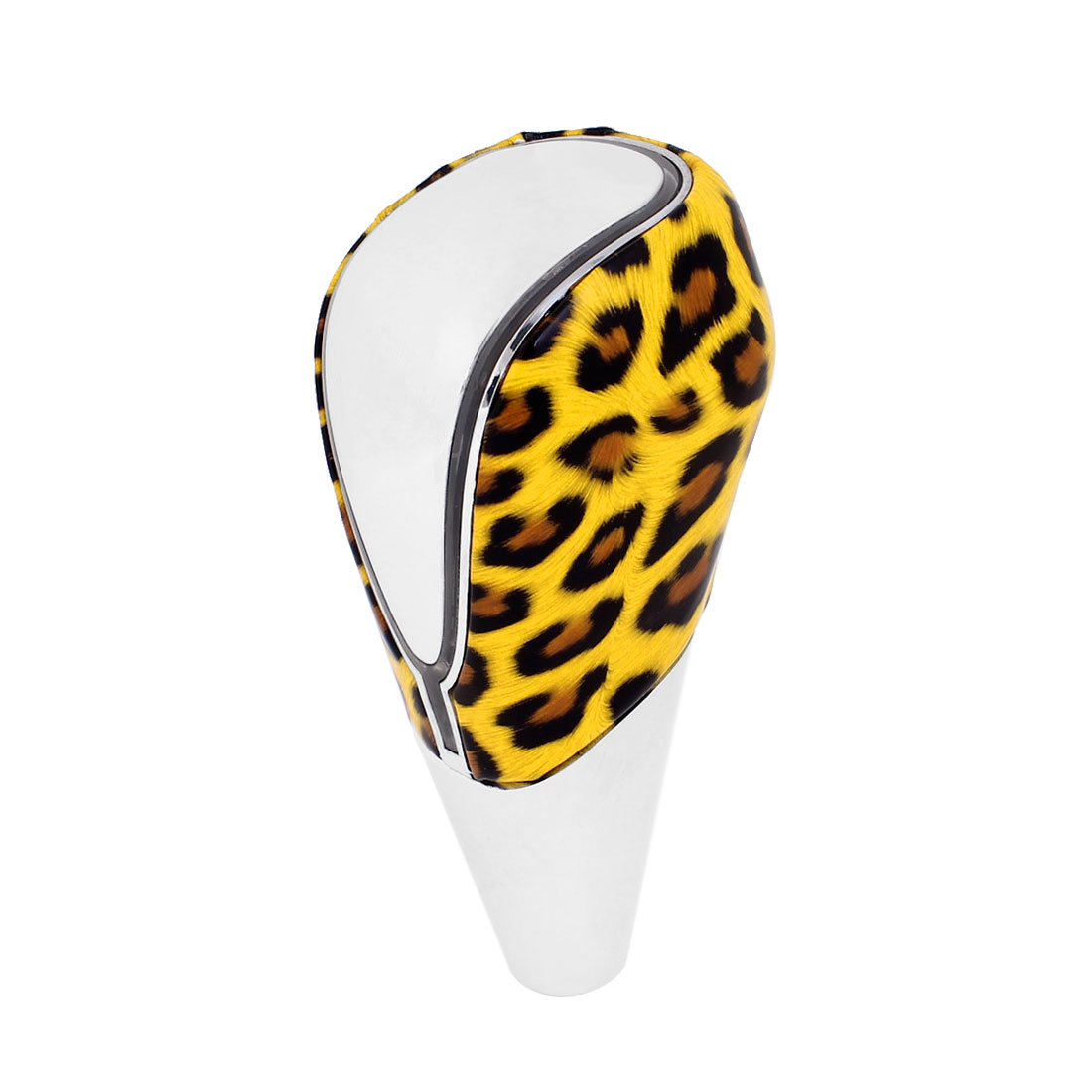 Yellow Leopard Print LED Gear Shift Knob Multicolor Light 11cm Height