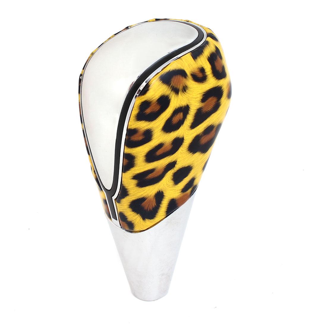 Yellow Leopard Pattern USB Power RGB Multi-color LED Universal Shift Knob