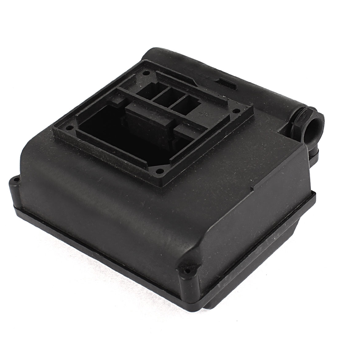 Black Plastic Shell Capacitor Protector Junction Box 125mm x 130mm