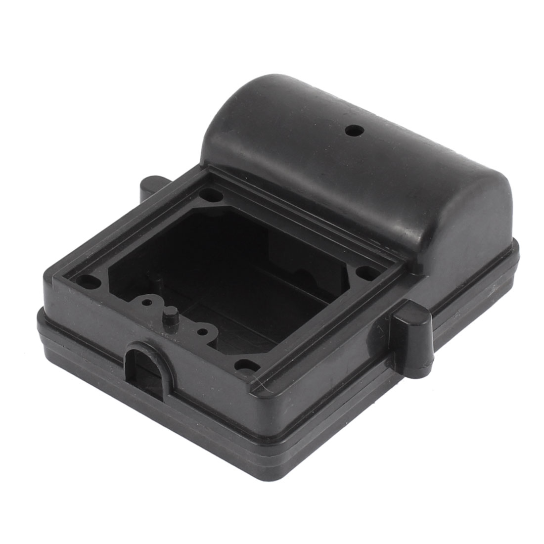 Black Plastic Dual Capacitor Protector Junction Box 95mm x 75mm