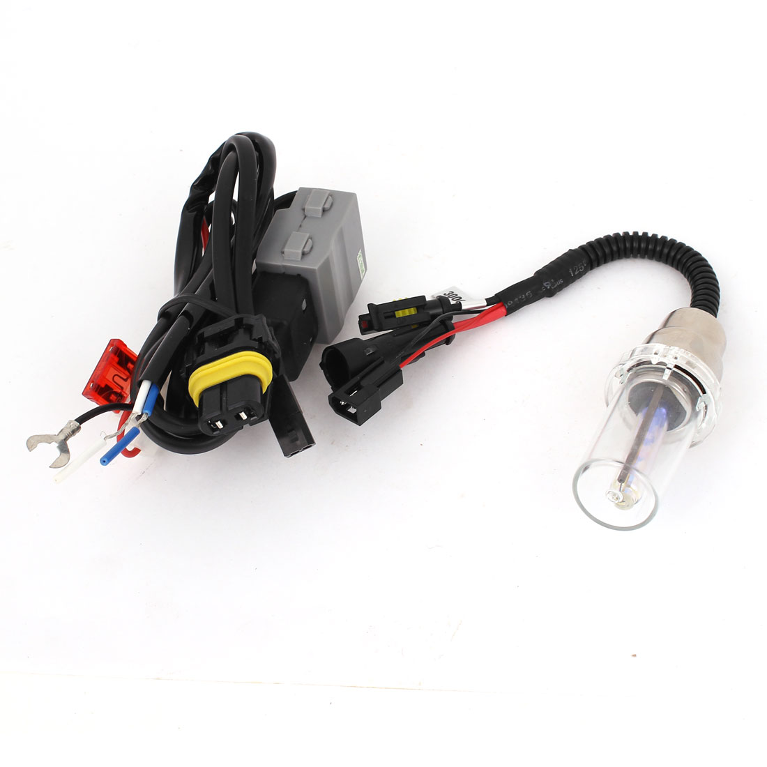 Motorcycle Auto 35W 3000K H6 HID Xenon Bulb Yellow Lamp Conversion Harness Fuse Kit