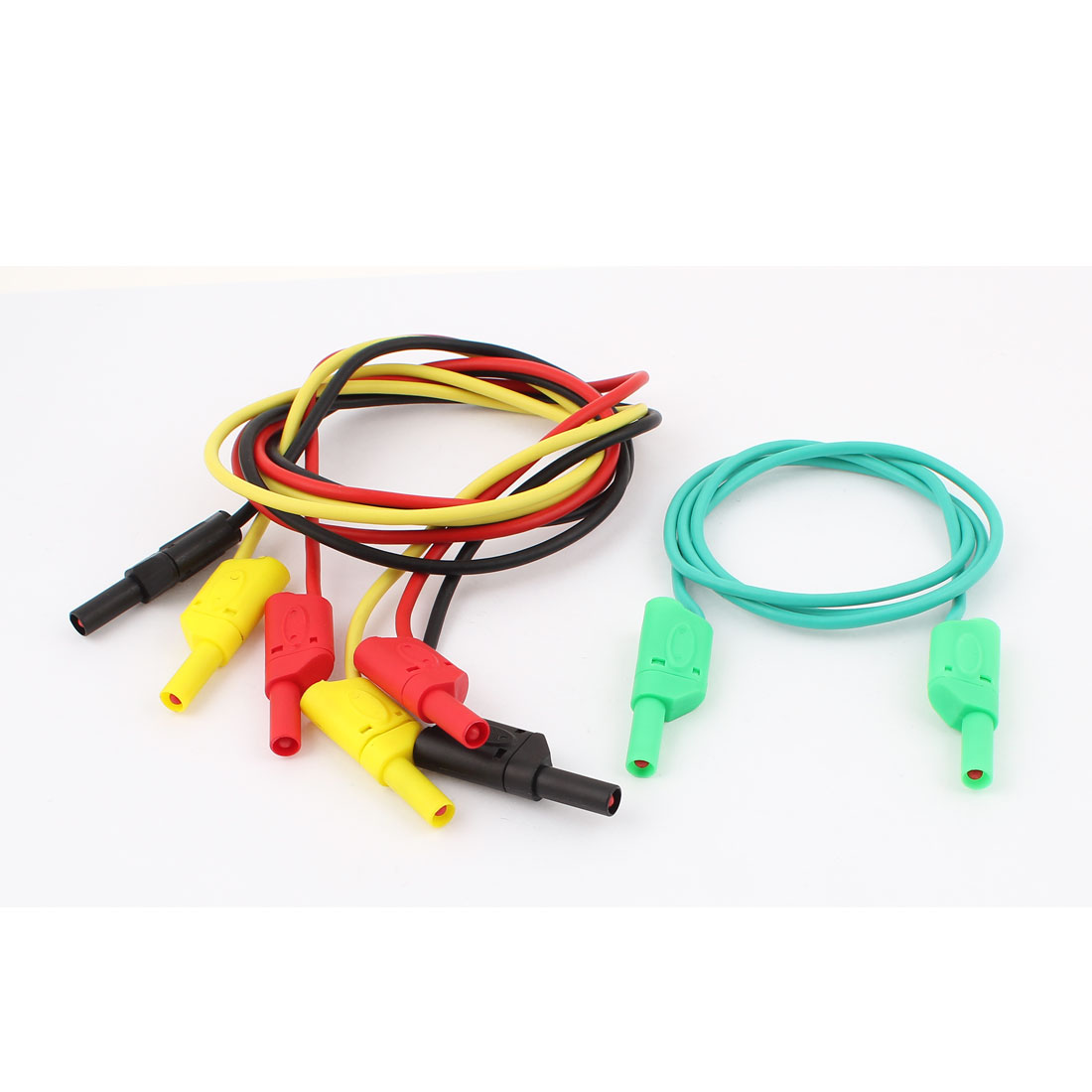 4 Pcs Sheathed 4mm Banana Connector Male to Male Test Lead Cable 10A-20A 1M Long