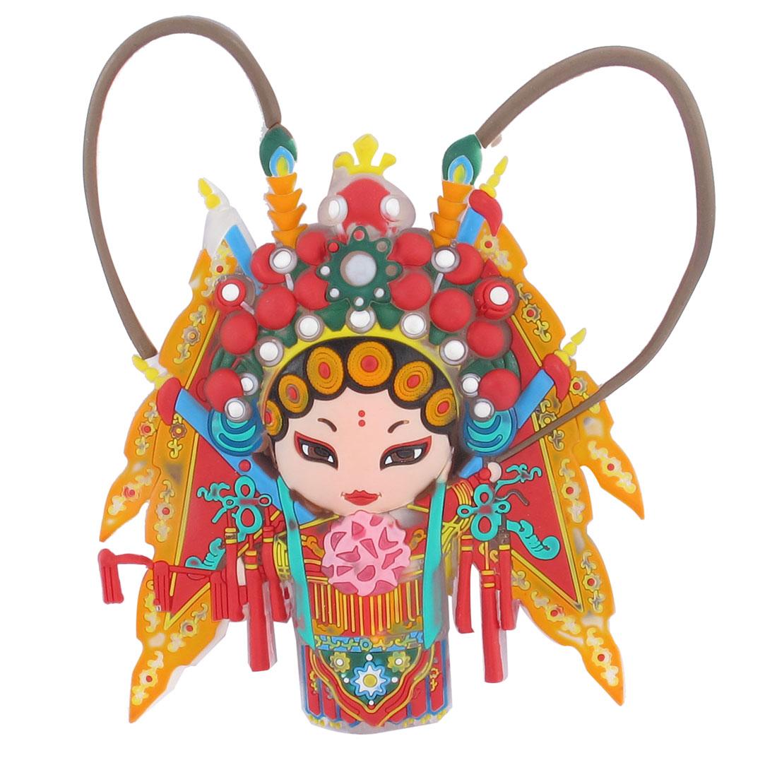 Chinese Peking Opera Character Female Role Mu Guiying Rubber Fridge Magnet