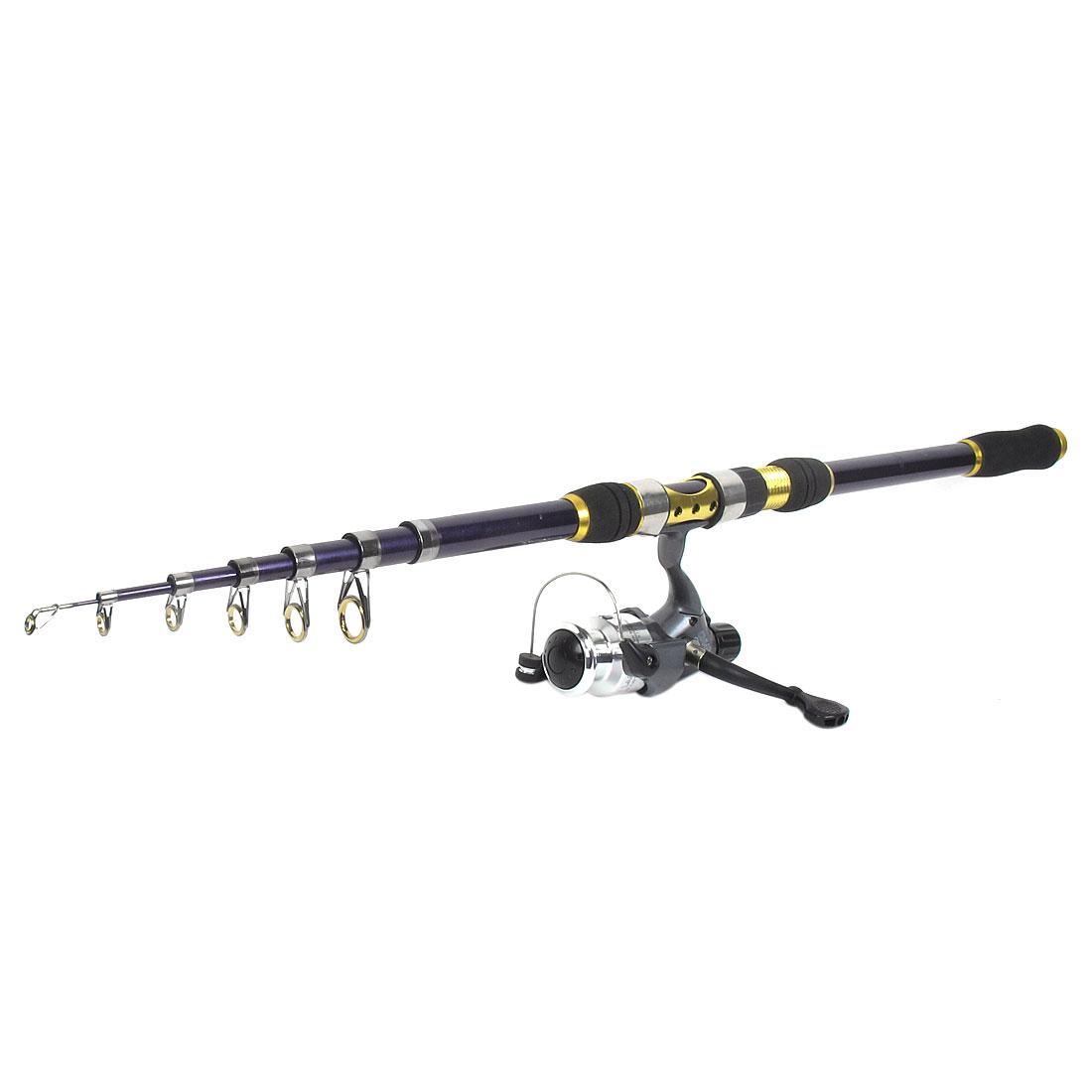 3.6M Telescopic Carbon Fiber Retractable Fishing Rod + HL 40 Fishing Reel