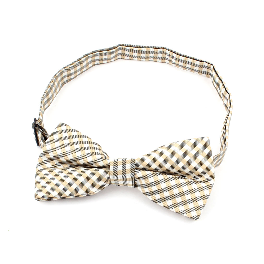 Dog Cat Pet Puppy Plaids Pattern Adjustable Collar Bowtie Necktie Tricolor