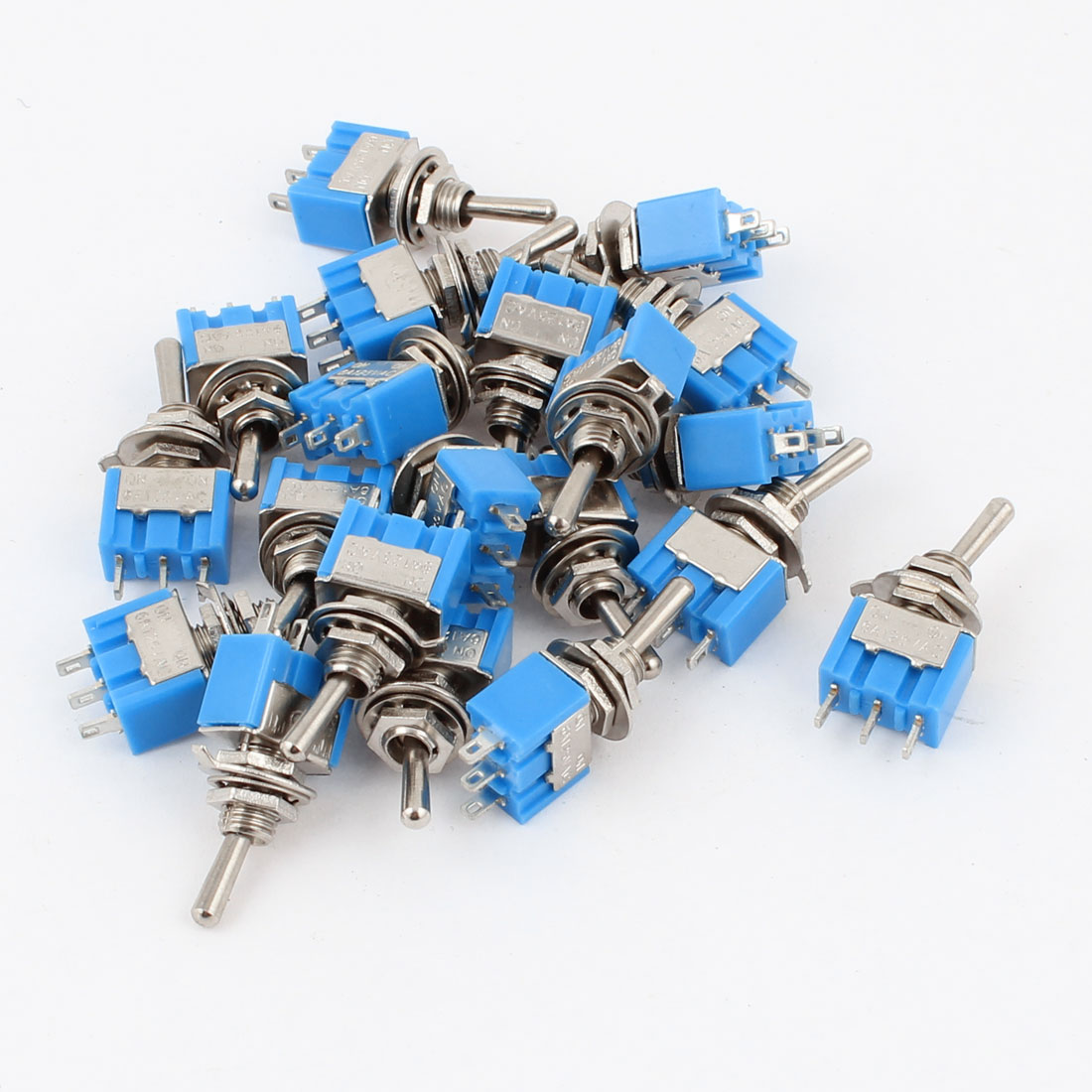 AC 125V 6A 3-Pin SPST Latching 2 Positions ON-ON Toggle Switch Switches 20pcs