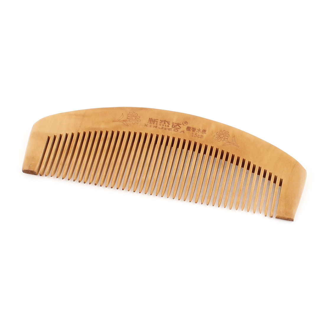 Wooden Antistatic Handmade Chinese Style Narrow Tooth Hair Comb 15cm Long