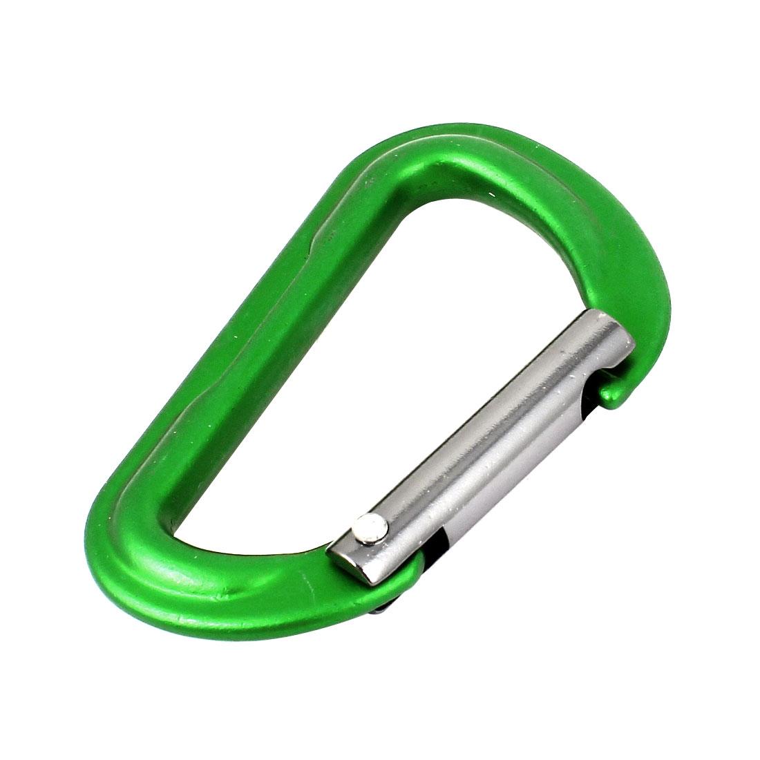 Camping Spring Loaded Aluminum Alloy Carabiner Clip Snap Hook Green