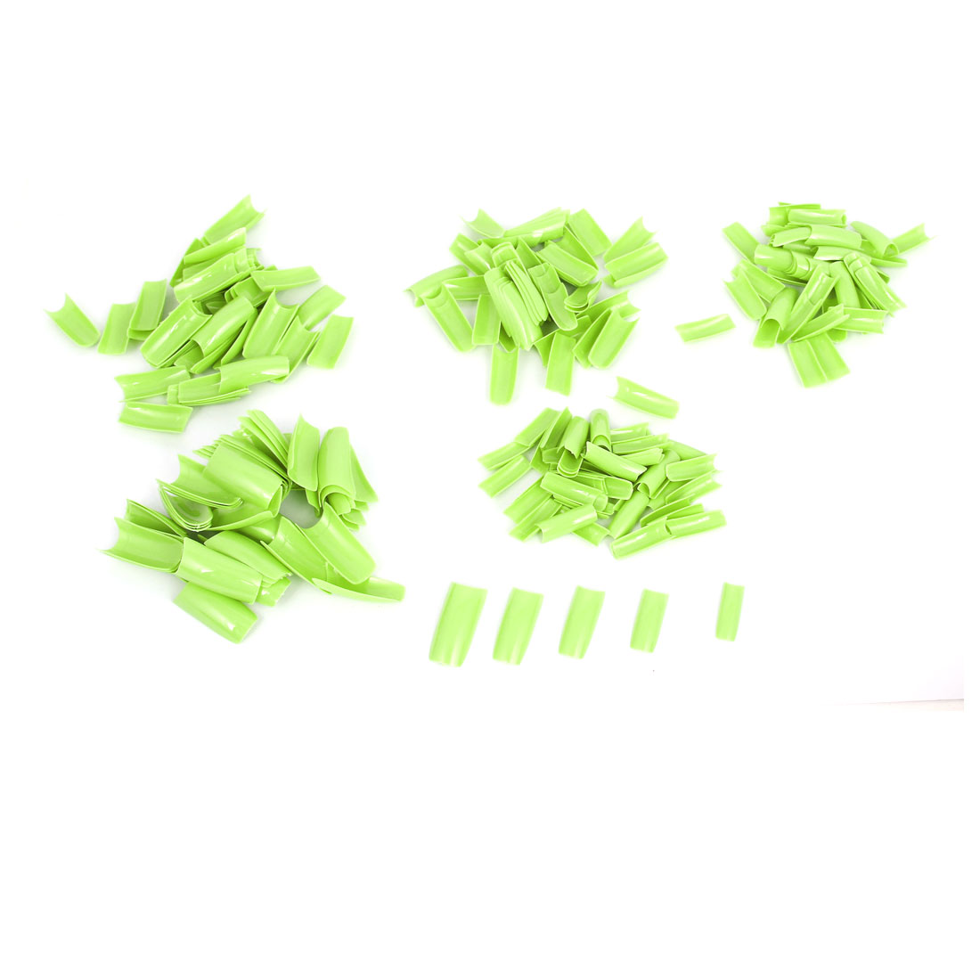 Lady Silver Green Plastic DIY False Nail Art Decal Stickers Tip Decor 250 Pcs