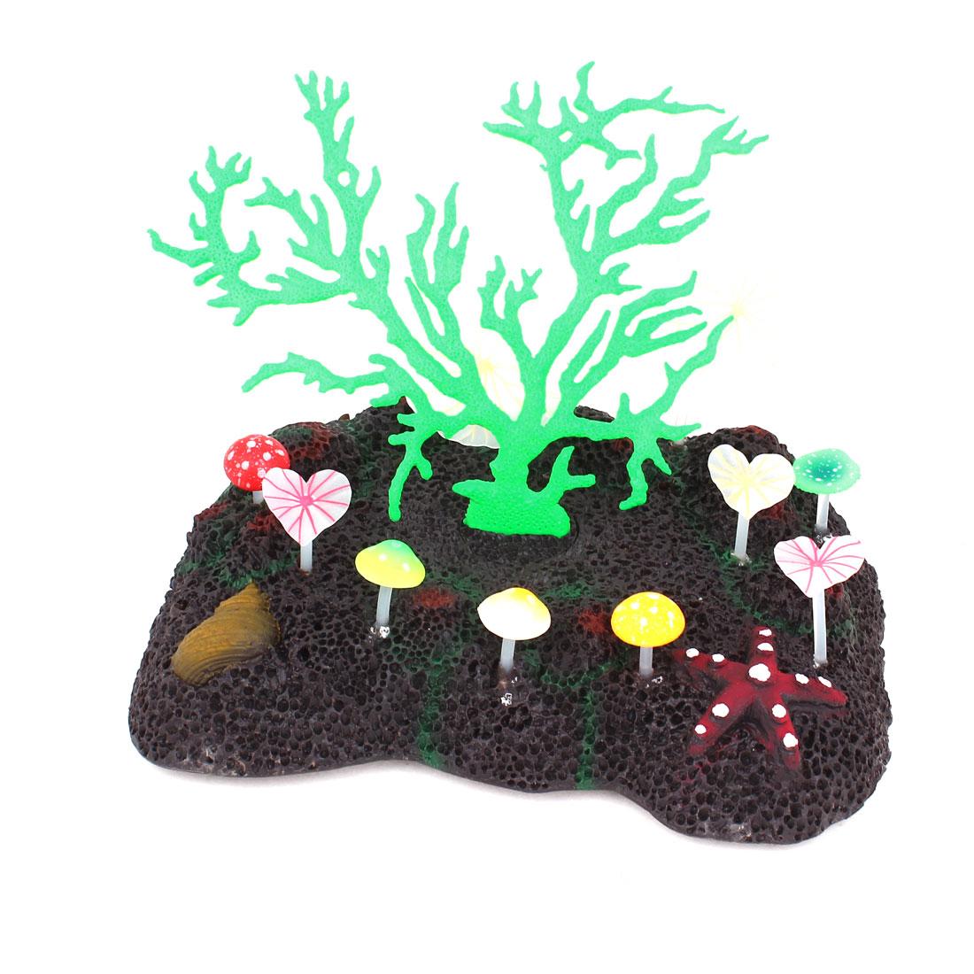 17cm Height Aquarium Glowing Atificial Coral Underwater Plant Ornament