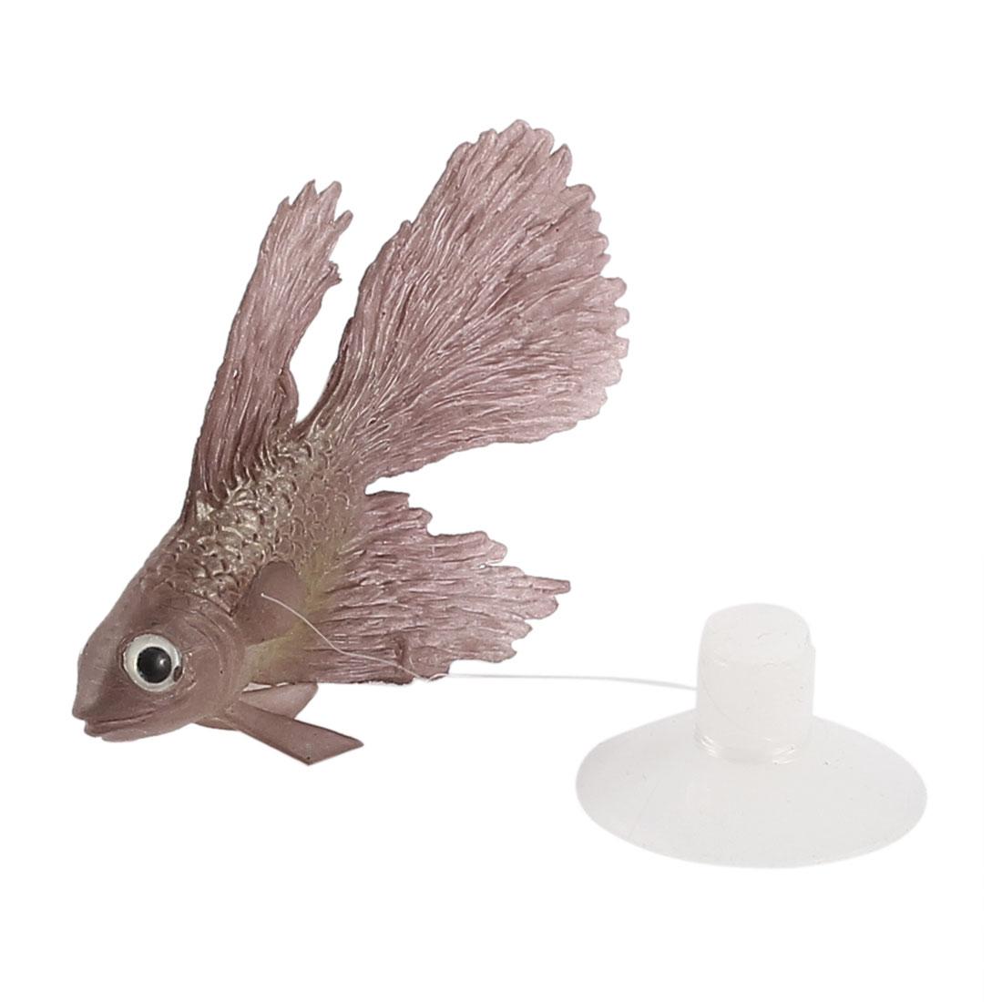 Aquarium Tank Imitative Floating Glowing Betta Fish Ornament Rosybrown